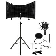 Heavy Duty Acoustic Recording Studio Microphone Isolation Shield Tripod Stand