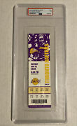 Kobe Bryant Scores 81 Points Game 1/22/2006 Lakers Full Ticket Psa 7 Low Pop 📈