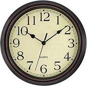 Foxtop Retro Silent Non-ticking Round Classic Clock Assorted Colors , Sizes