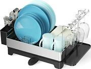 Dish Drying Rack Tidyway 304 Stainless Steel Dish Rack With Swivel Spout Wine