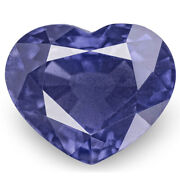 Gia Certified Madagascar Sapphire 2.90 Cts Natural Untreated Deep Blue Heart