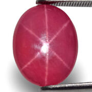 Vietnam Star Ruby 6.51 Cts Natural Untreated Deep Pinkish Red Oval