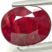 Tanzania Ruby 2.49 Cts Natural Untreated Pigeon Blood Red Oval