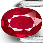 Mozambique Ruby 0.76 Cts Natural Untreated Deep Pigeon Blood Red Oval