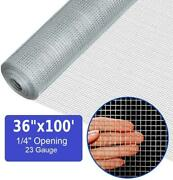100ft Roll 36'' X 100' Hardware Cloth Galvanized Welded Wire Fence Mesh 1/4in