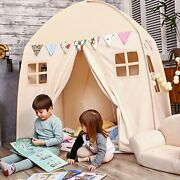 Love Tree Kids Play Tent Castle Large Teepee Tent For Kids Portable Beige