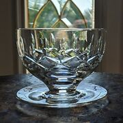Ireland Made Waterford Crystal Kildare Dessert / Grapefruit Bowl Footed