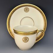 Lenox Vice Presidential China Cup And Saucer Clinton Gore Bush Cheney White House