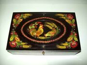 Music Box Author S Painting Ussr Signature Rare Antique Collectibles Beautiful