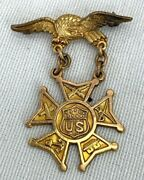 1950 Named And Engraved Army Navy Union Officers Medal