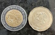 Mexico 1994 50 Centavos And One New Pesos Uncirculated 57/6