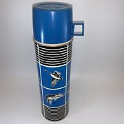 Vintage 1973 Sporting Thermos Fishing Hunting Birds 13 1/2 Tall Duck Bass Fish