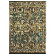Copper Grove Slatina Teal And Brown Area Rug