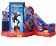 16x13x13 Pvc Commercial Inflatable Spiderman Bounce House Slide With Air Blower