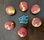 Land Of Nod Small Red Marble Drawer Pull