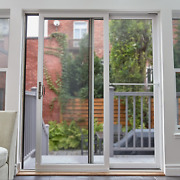 Patio Door Security Bar Sliding Glass With Anti Lift Lock Stop Home Safety White