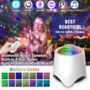Led Star Projector Night Light Galaxy Starry Wave Remote Bluetooth Music Lamp