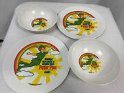 Vintage 1983 Swift And Co Peter Pan Peanut Butter Plate And Bowl Set 2 Of Each