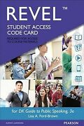 Dk Guide To Public Speaking Revel Access Code Hardcover By Ford-brown Lisa ...