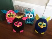 4 2012 Hasbro Furby - Pink White Polka Dots - Blue - Black Tested And Working
