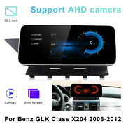 12.3android Car Gps Navigation Player Video Carplay For Benz Glk X204 2008-2012