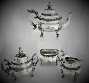 S. Kirk And Son Sterling Silver Tea Set 1896-1924 105.6 Ozt