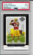 2005 Topps Aaron Rodgers 431 Black Sp Rc Rookie Psa 9