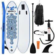 10and039 Inflatable Stand Up Paddle Board Sup Surfboard W/ Complete Kit Fatherand039s Gift