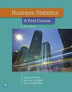 Business Statistics A First Course Paperback By Levine David M. Szabat ...