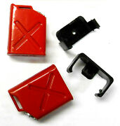 1/10 Scale Rc Rock Crawler Monster Truck Body Shell Fuel Gas Oil Tank Cans Red