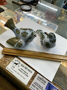 Vintage Made In Italy Porcelain Doves Figurines