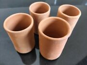 Clay Glass Set Of 4 Multi Purpose Terracotta Pot By Ganesh Pottery