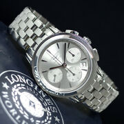 1-year Warranty Longines Chronograph L4.803.4 At Mens Automatic Winding