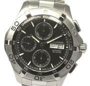With Warranty Tag Heuer Aquaracer Chronograph Caf2010 Automatic Winding Mens