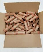 500 Rolls Preformed Coin Wrappers Paper Tubes For Quarters 25c Holds 10 Each