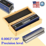 8 Master Precision Level Bar Level Wooden Box For Machinist Tool 0.0002''/10''