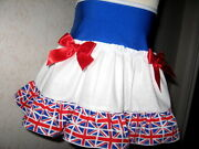 Festival Union Jack Skirt Blue White Red Euro Football Party Team Gb Holiday