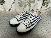 Try-on Only Louis Vuitton Lv Escar Stella Line Sneaker Notation 38 Blue