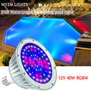 Color Changing Swimming Pool Lights Bulb Led Light 40w 12v For Pentair Hayward