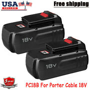 2-pack 18v 18 Volt 4.5ah Nimh Replacement Battery For Porter Cable Pc18b Tools