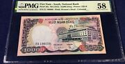 Vietnam South 10000 Dong 1975 Pick 36a Aunc Pmg 58 Issued Banknotes Very Rare