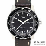 Gin Sinn 104.st.sa Automatic Menand039s Watches Black Leather Belt Winding Model 104