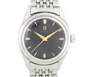 Omega Seamaster Mirror Dial 2802-4sc Cal.471 Antique Black Ss Stainless Mens