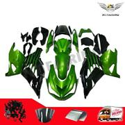 Ft Green Black Injection Fairing Fit For Kawasaki Zx14r Zzr1400 2012-2015 A002