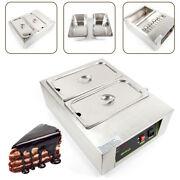 Commercial Chocolate Melting Machine 2 Pots Chocolate Warmer Boiler Thermostat