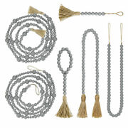 With Tassels Home Decor Wall Hanging Diy Crafts Jute Rope Wood Bead Garland 3c2
