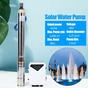 3 Inch Dc Diving Solar Pump Pool Irrigation Fountain Stainless Steel 48v 600w