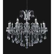18 Light Chandelier With Chrome Finish Grey