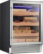 Electronic Cigar Cooler Humidor 24and039and039 Buit-in Glass Door Cigar Cabinet