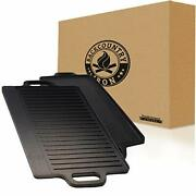 Backcountry Cast Iron Skillet 20x9 Large Reversible Grill/griddle Pre-season...